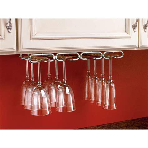 wine glass holder cabinet rev a shelf 1 5 in h x 17 in w x 11 in d chrome under