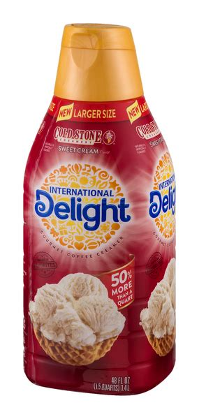 Our coffee creamers come in over. International Delight Cold Stone Creamery Sweet Cream Coffee Creamer   Hy-Vee Aisles Online ...