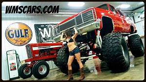 86 Red K10 4x4 Chevy Square Body 4x4 Jacked Up Lifted 3  4