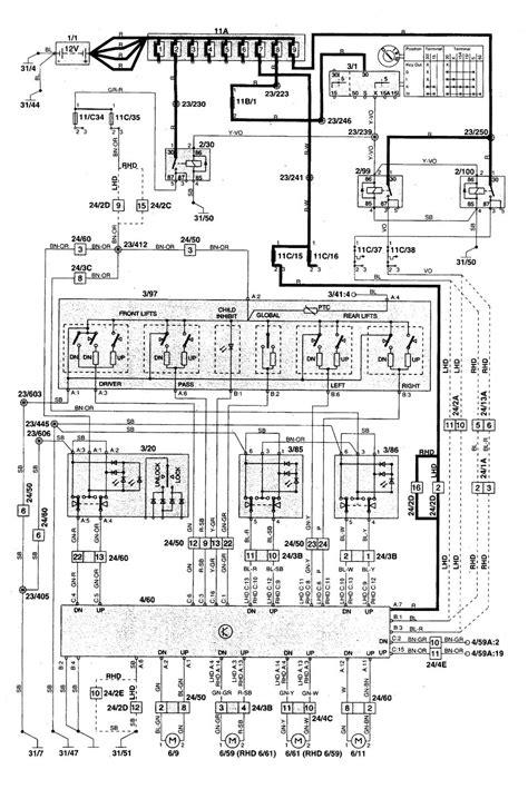 Volvo Wiring Diagrams Power Windows