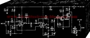 Simple Audio Controlled Switch Circuit Diagram