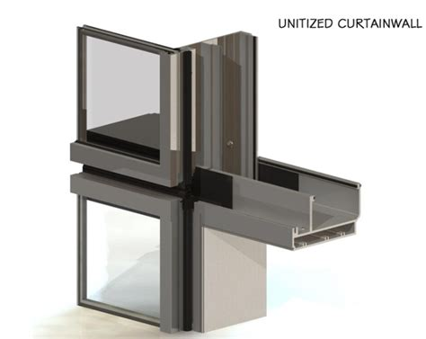 unitized glass curtain wall manufacturers china new