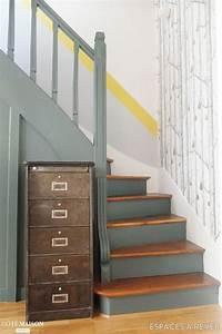les 25 meilleures idees concernant cage d39escalier With peindre les contremarches d un escalier en bois 4 quelles couleurs pour repeindre son escalier