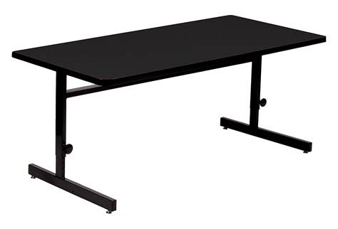 black table l correll csa2460 07 high pressure laminate top computer and