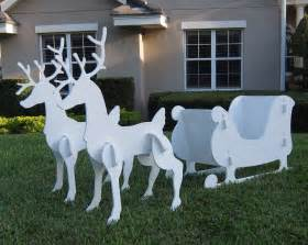 santa sleigh reindeer outdoor yard decoration new sale garden set pvc large outdoor