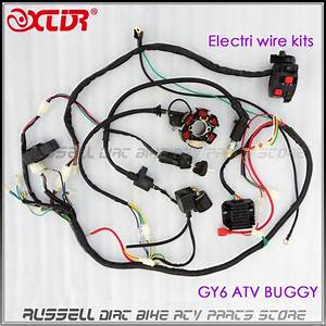 Gy6 125cc 150cc Electrics Stator Wire Wiring Harness Loom Magneto Ignition Coil Cdi Rectifier