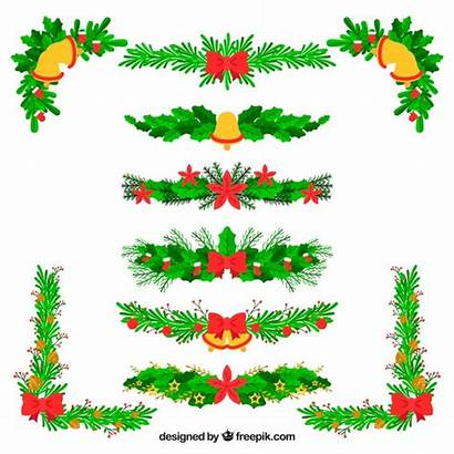Vector Christmas Garlands Floral Freepik