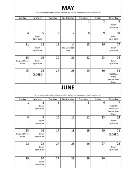 June And July 2014 Calendar