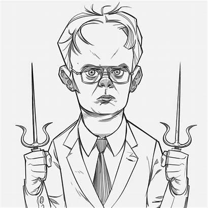 Dwight Schrute Sketch Cohen Doodle Dailies Pinocchio