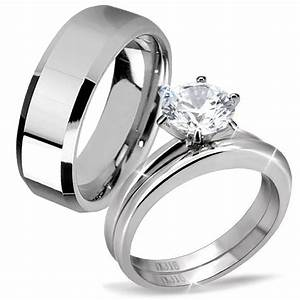 Amazing Tungsten Wedding Band Sets His And Hers