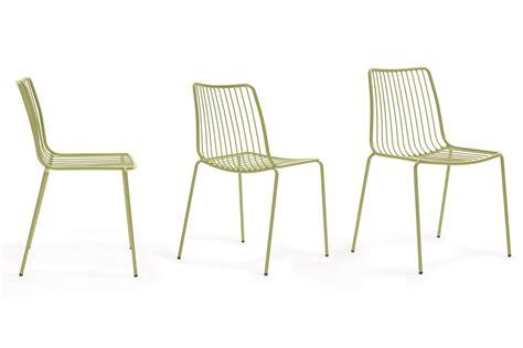 chaises metal nolita chaise pedrali en métal empilable pour l