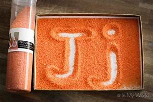preschool letter j in my world With letter formation sand tray