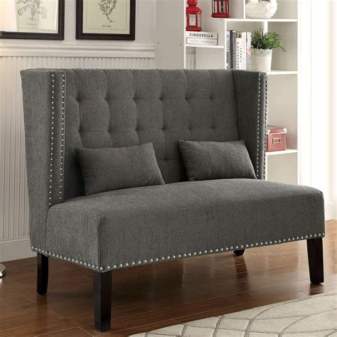 Wingback Loveseat by Furniture Of America Arvada Wingback Loveseat Chair