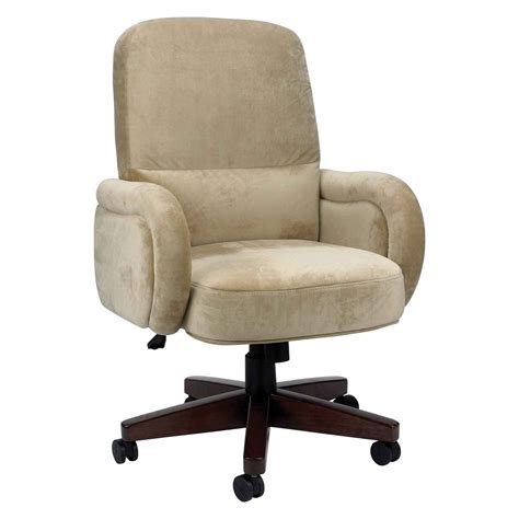 adjustable upholstered brown leather executive