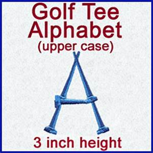 machine embroidery designs at embroidery library With golf alphabet letters