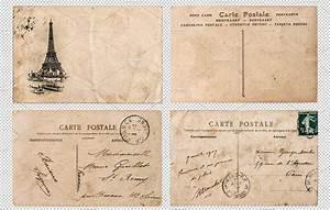 Antique french postcards Paris PNG ~ Objects ~ Creative Market