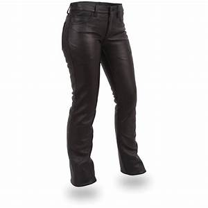 women39s first classicsr 5 pocket leather pants black With letter pants