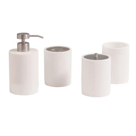 avanity pippa  piece bath accessories set  matte white