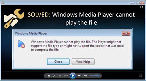 fix windows media player  play  file