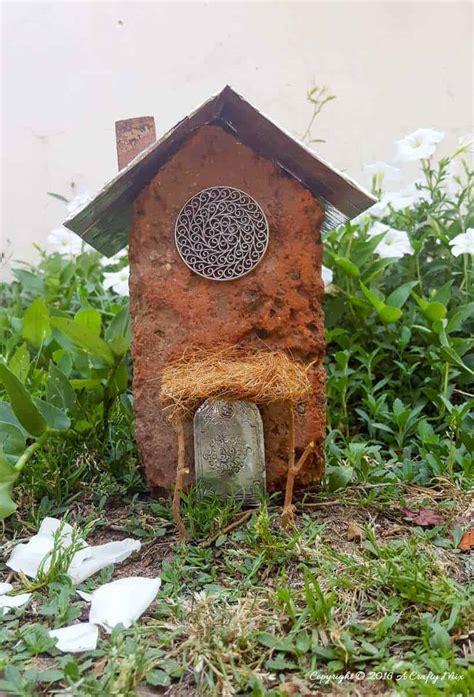 brick cardboard fairy house  crafty mix