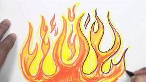 Best Photos of Drawings Fire Flames - How to Draw Fire ...