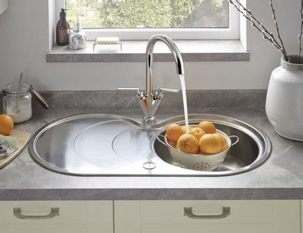 circular kitchen sinks lamona bowl sink with drainer stainless steel 2213