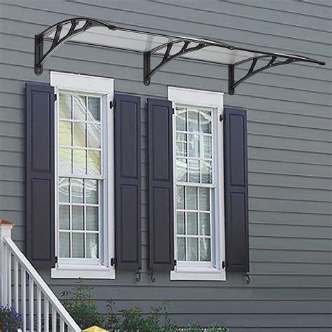 door window outdoor awning polycarbonate patio sun shade cover canopy ebay