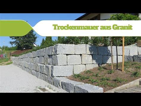 granit trockenmauer making  youtube