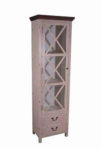 Holz Vintage Look : vitrinenkommode paris schmal holz vintage look creme wei kaufen bei mehl wohnideen ~ Eleganceandgraceweddings.com Haus und Dekorationen