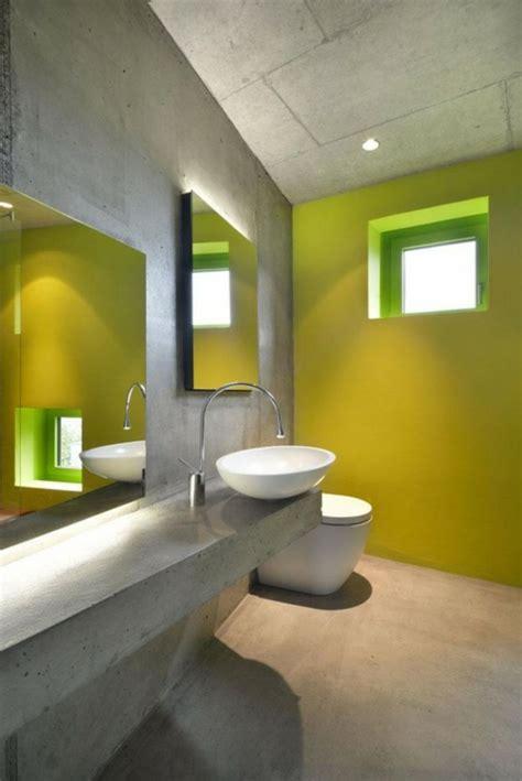 mur de couleur dans une chambre 16 idées béton pour des salles de bain design