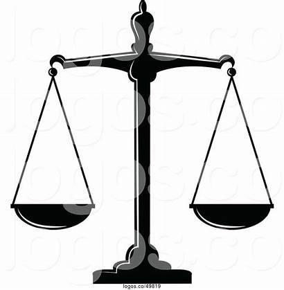 Justice Scales Cartoon Fair Balanced Tradition Sm
