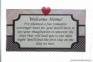 Romantic Scavenger Hunt Moms U0026 Munchkins