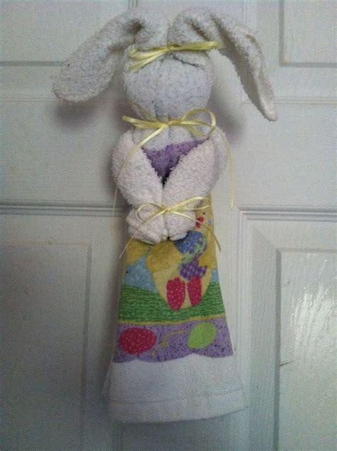 bunny   dish towel  wash cloth easter bunny