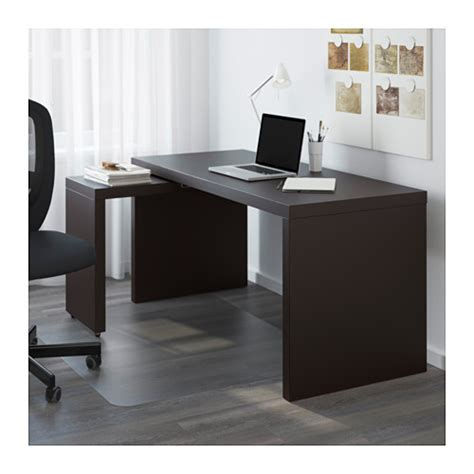 bureau malm ikea malm desk with pull out panel black brown 151x65 cm ikea