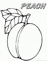 Peach Coloring Sheet Fruit Template Emoji Printable Starbucks Fruits Templates sketch template