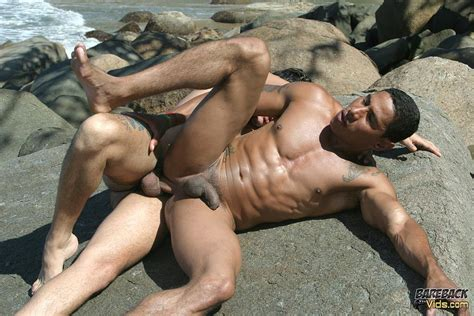 brazilian beach buddies fucking bareback at the nude beach gay muscle fuck