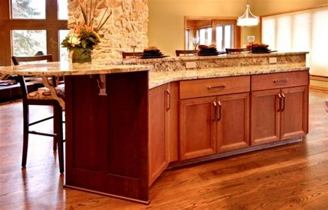 Kitchen Two Teired Countertop  Two Tier Alder Island