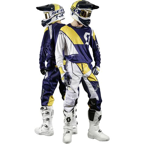 motocross gear scott 2017 mx gear new 450 podium blue white yellow dirt