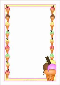 Ice-cream A4 page borders (SB8129) - SparkleBox