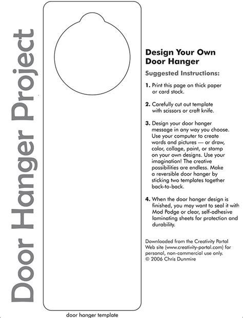 door hanger template word door hanger template free premium templates