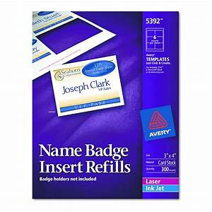 avery dennison name badge insert refill f 5384 nme tag With avery name badge inserts 5392