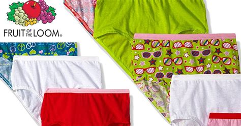 Fruit Of The Loom Girls' Briefs 9-pack Only $5.97 (just 66
