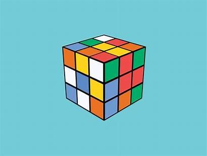 Cube Rubik Rubiks Gifs Illusion Animated Solid