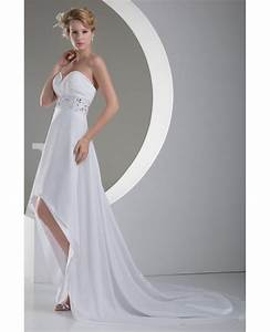 a line sweetheart asymmetrical chiffon wedding dress with With asymmetrical wedding dress