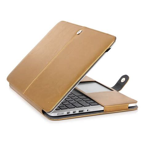 housse ordinateur portable cuir leather cover bag for apple macbook pro 15 quot with retina a1398 in laptop bags cases from