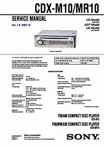 Sony Cdx-m10  Cdx-mr10 Service Manual
