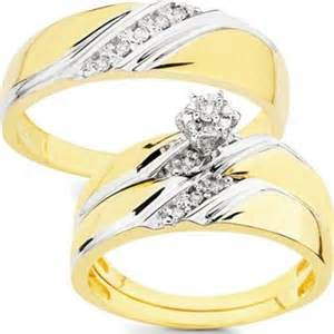 wedding rings sets his and hers 10k gold 1 10ct tdw his and wedding ring set h i i1 ladie 39 s visual bookmark 3287