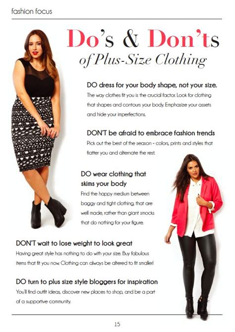 size fashion dos donts key  life positivity