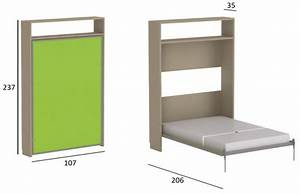 Lit Dans Armoire : lit armoire escamotable 2 personnes my blog ~ Premium-room.com Idées de Décoration