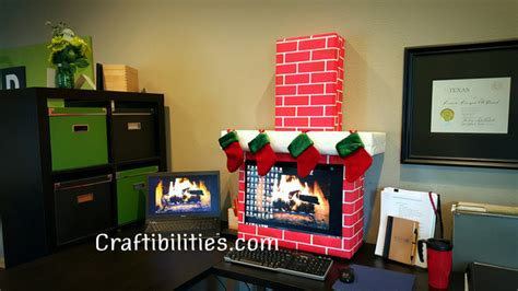 christmas decorations on the computer office idea fireplace computer cubicle diy decorations